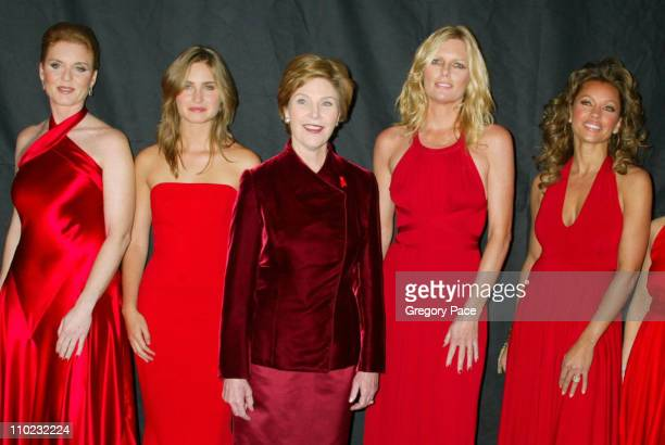 Sarah Ferguson Lauren Bush First Lady Laura Bush Patti Hansen and Vanessa Williams