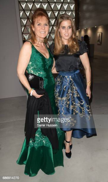 Sarah Ferguson Princess Beatrice of York attend the Fashion for Relief event during the 70th annual Cannes Film Festival at Aeroport Cannes Mandelieu...