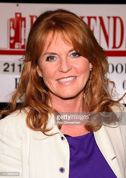 "Sarah Ferguson promotes ""Finding Sarah"" at Bookends Bookstore on June 29, 2011 in Ridgewood, New Jersey."