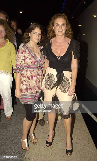 Sarah Ferguson the Duchess of York and Daughter Princess Eugenie