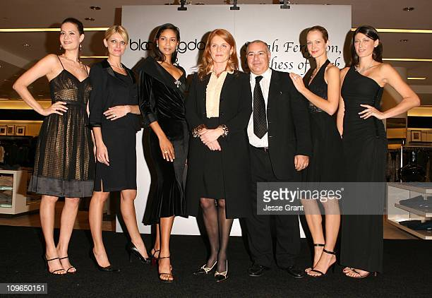Sarah Ferguson the Duchess of York and Neil Koppel with models wearing Sarah Ferguson for KG Creations
