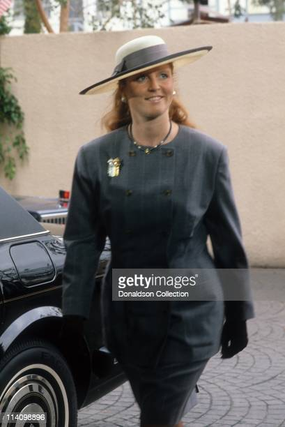 Sarah Ferguson the Duchess of York at Bel Age Hotel Event in February 1988 in Los Angeles California