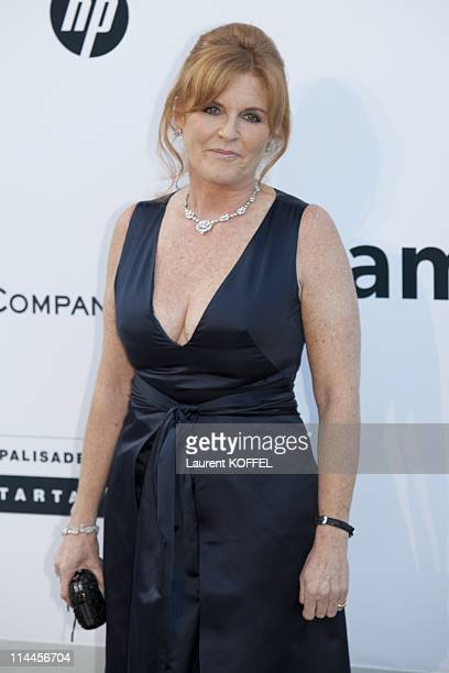 Sarah Ferguson the Duchess of York attends amfAR's Cinema Against AIDS Gala during the 64th Annual Cannes Film Festival at Hotel Du Cap on May 19...