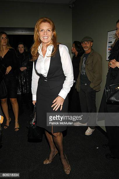 Sarah Ferguson the Duchess of York attends MARCHESA Spring 2007 Fashion Show at Daryl Roth Theater on September 12 2006 in New York City