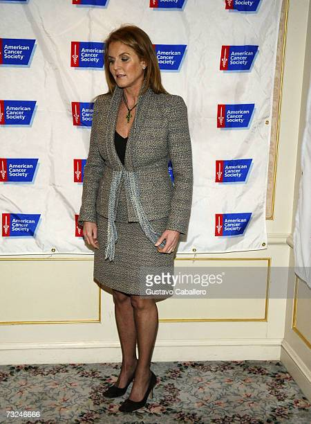 Sarah Ferguson The Duchess of York attends the American Cancer Society's Mother of the Year Luncheon where she will receive the Mother of the Year...