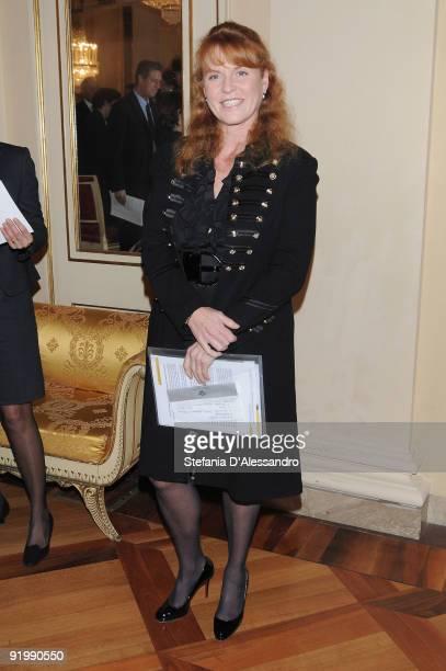 Sarah Ferguson the Duchess of York attends the presentation of the concert of the 'Sinfonica de la Juventud Venezolana Simon Bolivar' held at Teatro...