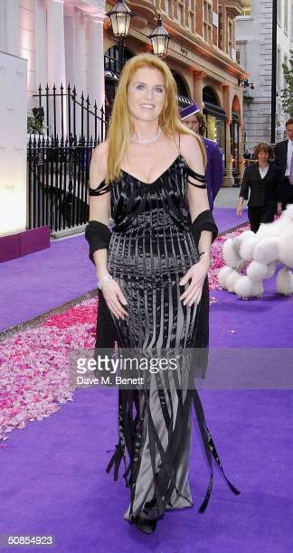 Sarah Ferguson the Duchess of York attends the relaunch of Asprey's flagship London store at its New Bond Street location on May 18 2004 in London...