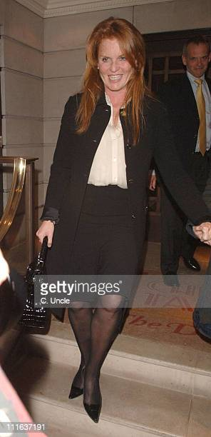 Sarah Ferguson the Duchess of York during Celebrity and Royal Sightings at China Tang in London February 22 2006 at China Tang in London Great Britain