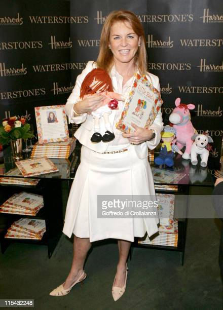 """Sarah Ferguson, The Duchess of York during Sarah Ferguson Signs Her New Book """"Little Red's Summer Adventure"""" at Harrods in London - July 1, 2006 at..."""