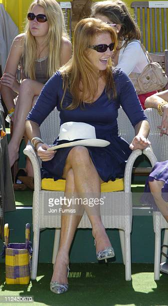 Sarah Ferguson the Duchess of York during The Veuve Clicquot Gold Cup Polo Final July 17 2005 at Cowdray Park in West Sussex Great Britain