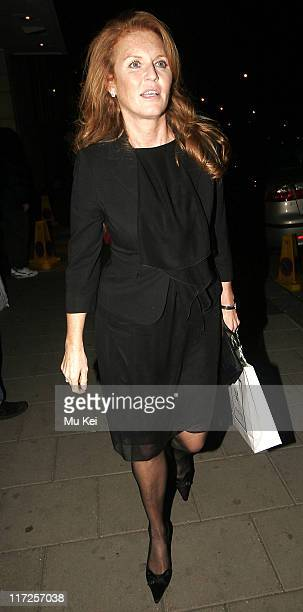 Sarah Ferguson the Duchess of York during The White Countess London Premiere Departures at Curzon Mayfair in London Great Britain