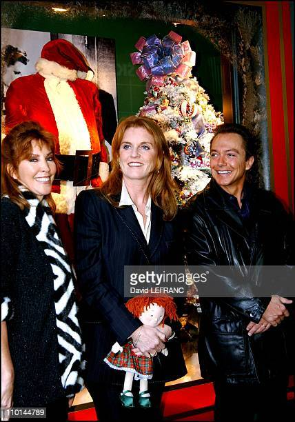 Sarah Ferguson The Duchess of York founder of Chances for Children and platinum recording star David Cassidy along with wife Sue ShifrinCassidy...