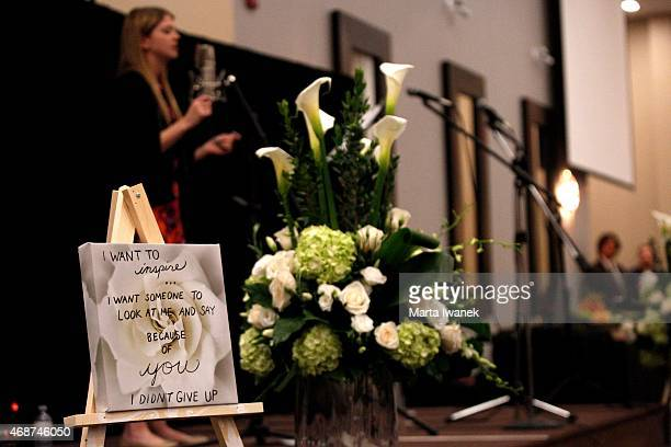 APRIL 4 Sarah Fisher sings during a gathering of friends and family to celebrate the life of Carley Allison at Millennium Gardens Banquet Centre in...