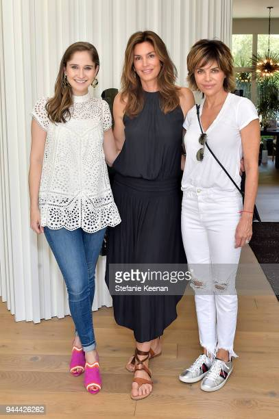 Sarah Flint Cindy Crawford and Lisa Rinna attend Cindy Crawford x Sarah Flint celebrate the Sarah Flint spring footwear collection at a private...