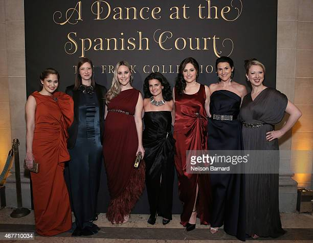 Sarah Flint Joann Pailey Elizabeth Kurpis Jennifer Wright Amory McAndrew Lydia Fenet Delaney and Lucy Jane Lang attend the The Frick Collection 2015...