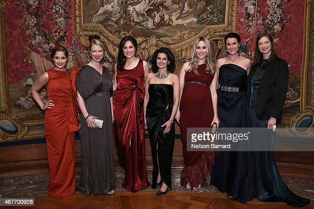Sarah Flint Lucy Jane Lang Amory McAndrew Jennifer Wright Elizabeth Kurpis Lydia Fenet Delaney and Joann Pailey attend the The Frick Collection 2015...
