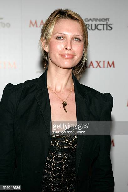 """Sarah Foster, #10 on Maxim Magazine's Annual """"Hot 100"""" list, arrives at the celebrity party to celebrate the 2005 Maxim """"Hot 100"""" list."""