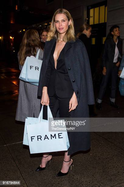 Sarah Foster is seen in Midtown on February 10, 2018 in New York City.