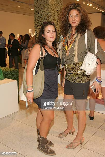 Sarah Freiseis and Brigitte Segura attend ELIE TAHARI Spring 2008 Presentation at 510 Building on September 5 2007 in New York City