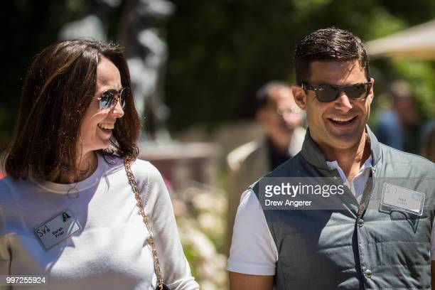 Sarah Friar chief executive officer of Square and Ned Segal chief financial officer at Twitter attend the annual Allen Company Sun Valley Conference...