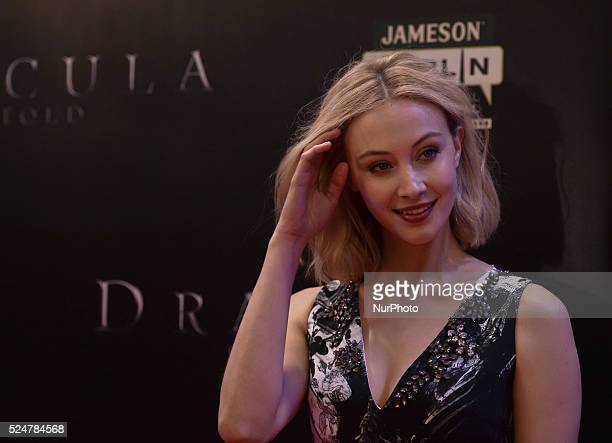 Sarah Gadon a Canadian actress attends the Irish Premiere of Dracula Untold at Savoy Cinema O'Connell St in Dublin Ireland 30th September 2014 Photo...