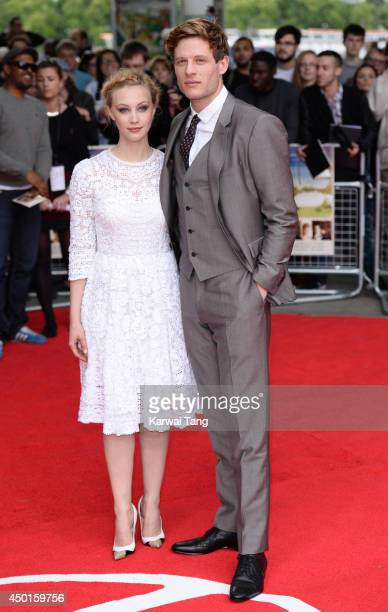 Sarah Gadon and James Norton attend the UK Premiere of 'Belle' at BFI Southbank on June 5 2014 in London England