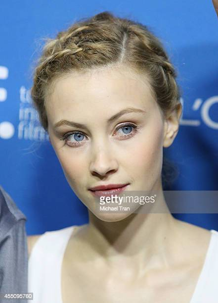 Sarah Gadon arrives at the photocall of The Imitation To The Stars held during the 2014 Toronto International Film Festival - Day 6 held on September...