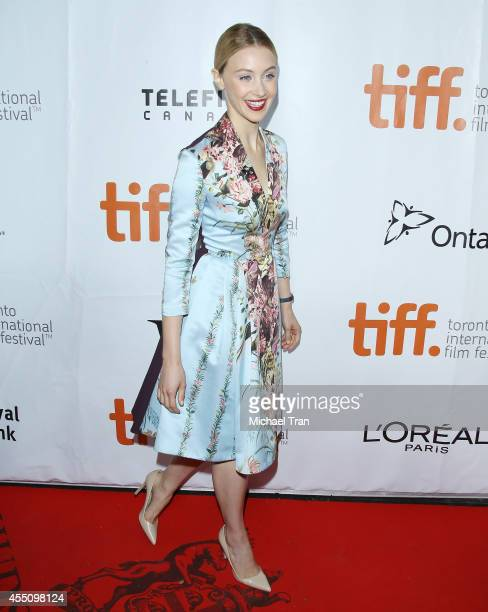 Sarah Gadon arrives at the premiere of Maps To The Stars held during the 2014 Toronto International Film Festival - Day 6 held on September 9, 2014...