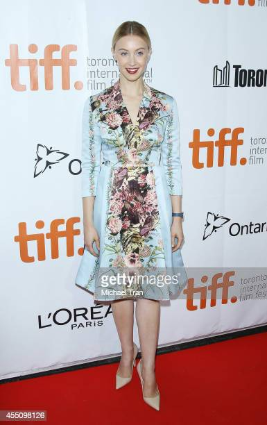 Sarah Gadon arrives at the premiere of Maps To The Stars held during the 2014 Toronto International Film Festival Day 6 held on September 9 2014 in...