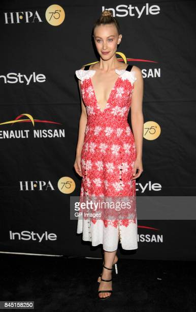 Sarah Gadon attends The Hollywood Foreign Press Association and InStyle's annual celebrations of the 2017 Toronto International Film Festival at...
