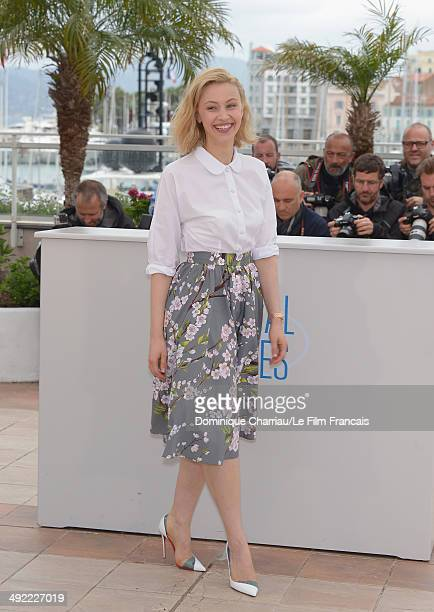 Sarah Gadon attends the 'Maps To The Stars' photocall at the 67th Annual Cannes Film Festival on May 19 2014 in Cannes France