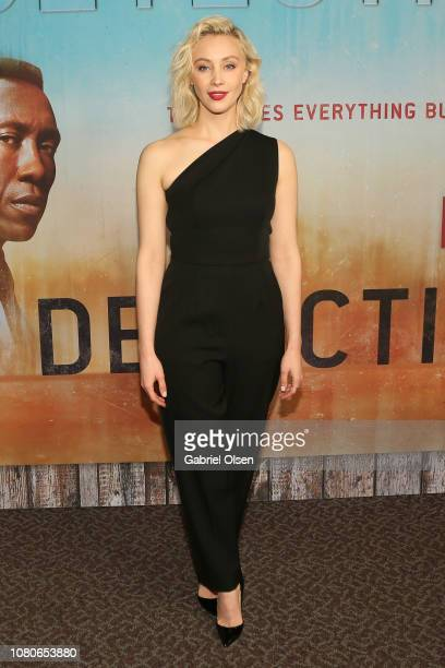 Sarah Gadon attends the premiere of HBO's True Detective Season 3 at Directors Guild Of America on January 10 2019 in Los Angeles California