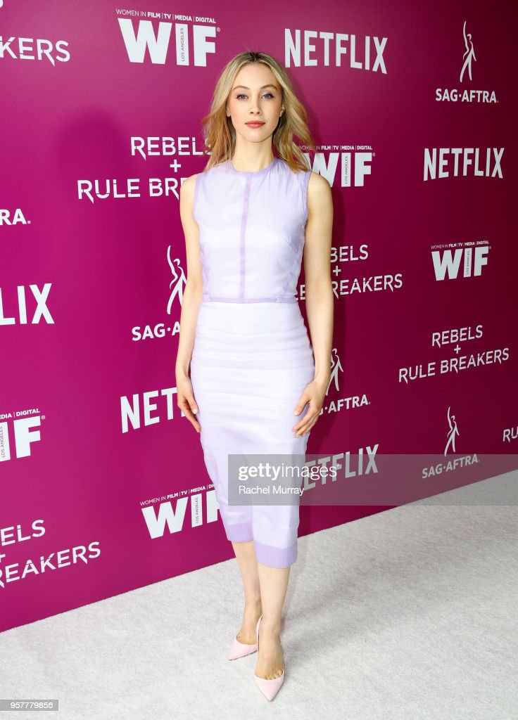 Sarah Gadon attends the Rebels and Rule Breakers Panel at Netflix FYSEE at Raleigh Studios on May 12, 2018 in Los Angeles, California.