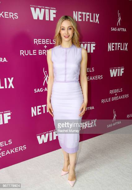 Sarah Gadon attends the Rebels and Rule Breakers Panel at Netflix FYSEE at Raleigh Studios on May 12 2018 in Los Angeles California
