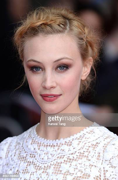 Sarah Gadon attends the UK Premiere of Belle at BFI Southbank on June 5 2014 in London England