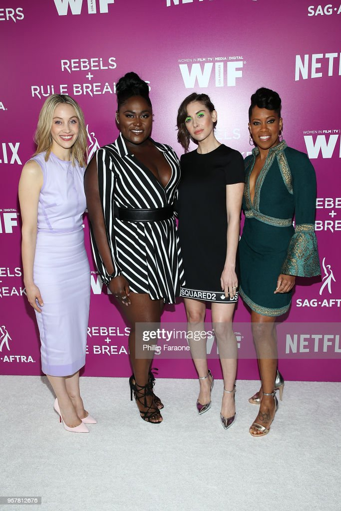 Sarah Gadon, Danielle Brooks, Alison Brie, and Regina King attend the Netflix - Rebels and Rule Breakers For Your Consideration Event at Netflix FYSee Space on May 12, 2018 in Beverly Hills, California.