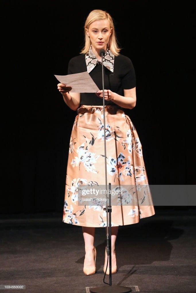 Sarah Gadon Presents The Eurimages Audentia Award For Best Female