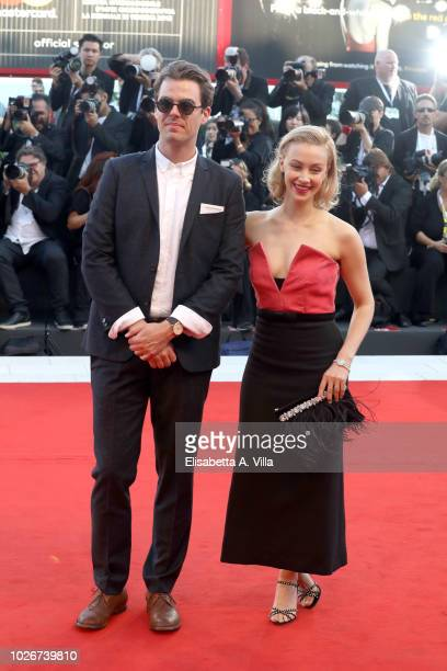 Sarah Gadon walks the red carpet ahead of the 'Vox Lux' screening during the 75th Venice Film Festival at Sala Grande on September 4 2018 in Venice...