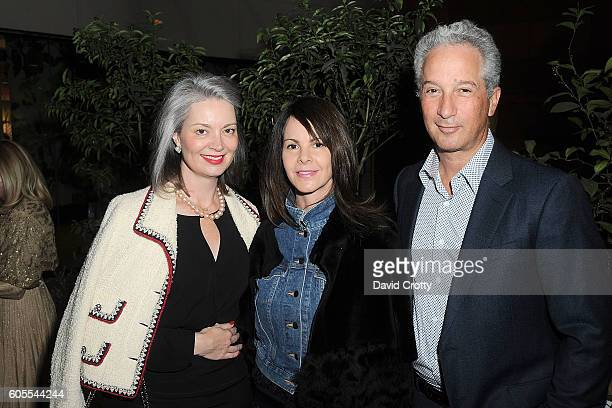 Sarah Gavlak Kelly Lamb and Jeffrey Soros attend Chloe W Magazine and MOCA Host Private Rooftop Dinner with MOCA Director Philippe Vergne at MOCA...