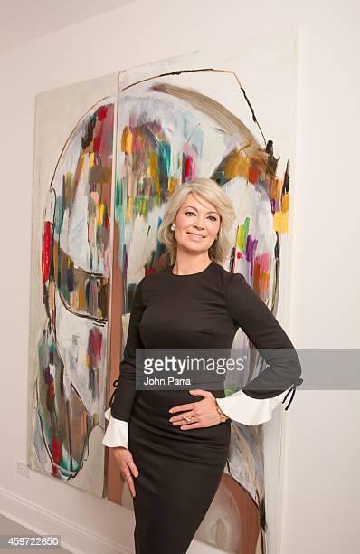 Sarah Gavlak owner of Palm Beach's Gavlak Gallery poses during Art Basel Miami Beach 2014 at Gavlak Gallery on November 29 2014 in Palm Beach Florida