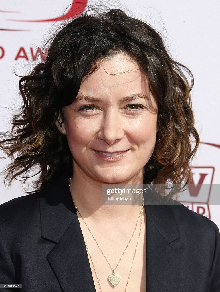 Sarah Gilbert arrives to The 6th Annual 'TV Land Awards' on June 8, 2008 at the Barker Hanger in Santa Monica, California.