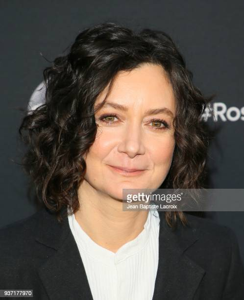 Sarah Gilbert attends the premiere of 'Roseanne' on March 23 2018 in Burbank California