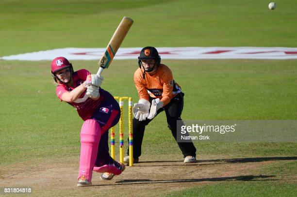 Sarah Glenn of Loughborough Lightning bats during the Kia Super League 2017 match between Loughborough Lightning and Southern Vipers at The 3aaa...
