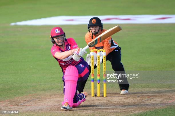 Sarah Glenn of Loughborough Lightning batting during the Kia Super League 2017 match between Loughborough Lightning and Southern Vipers at The 3aaa...
