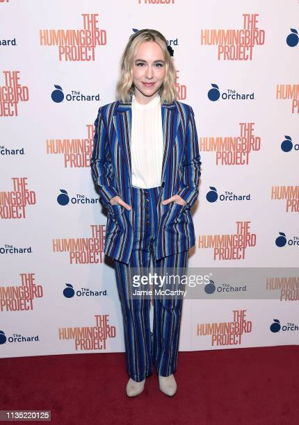"""Sarah Goldberg attends """"The Hummingbird Project"""" New York Screening at Metrograph on March 11, 2019 in New York City."""
