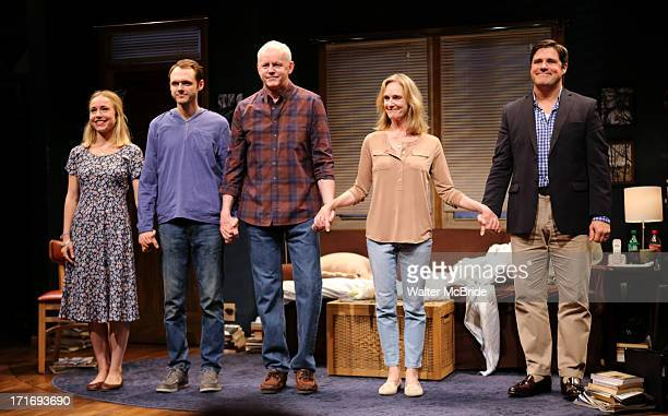 "Sarah Goldberg, Christopher Denham, David Morse, Lisa Emery and Rich Sommer during the ""The Unavoidable Disappearance Of Tom Durnin"" Opening Night..."