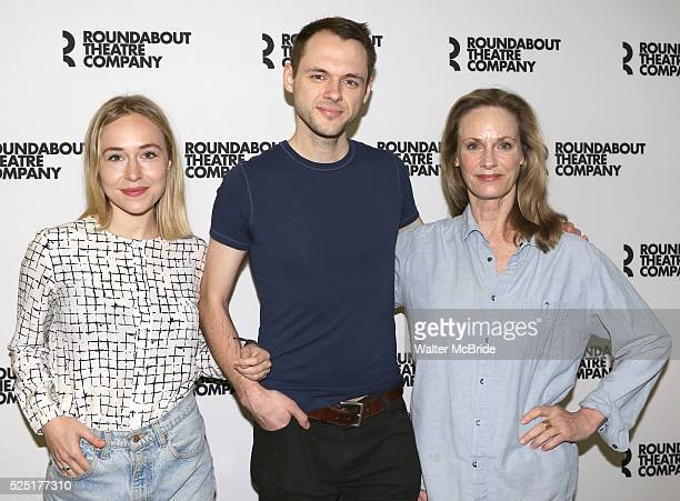 Sarah Goldberg, Christopher Denham, Lisa Emery attending the Meet and Greet the Cast and Creative Team of the Roundabout Theatre Company's Off...