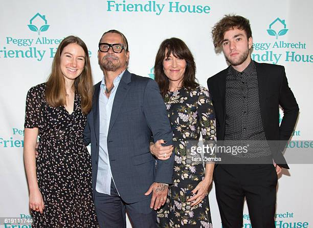 Sarah Grace White Kurt Sutter Katey Sagal and Jackson James White attend the Peggy Albrecht Friendly House's 27th annual awards luncheon at The...