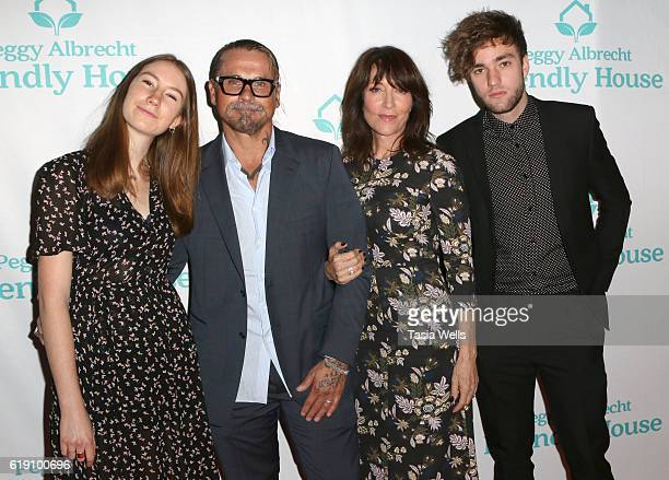 Sarah Grace White screenwriter Kurt Sutter actress Katey Sagal and Jackson James White attend the Peggy Albrecht Friendly House's 27th Annual Awards...