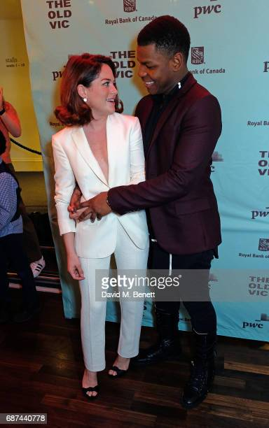 Sarah Greene and John Boyega attend the press night after party for 'Woyzeck' at The Old Vic Theatre on May 23 2017 in London England